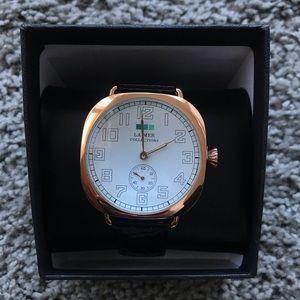 La Mer Rose Gold and Black Croc Watch BNIB